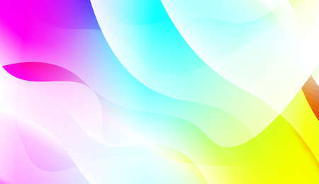 Abstract Wavy Background. For Business Presentation Wallpaper, Flyer, Cover. Vector Illustration with Color Gradient
