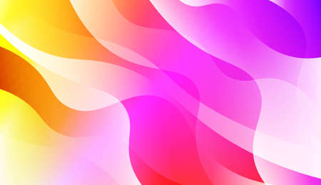 Modern Wavy Background. For Creative Templates, Cards, Color Covers Set. Vector Illustration with Color Gradient Çizim