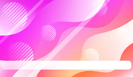 Abstract Waves, Line, Geometric Shape. Futuristic Technology Style Background. For Creative Templates, Cards, Color Covers Set. Vector Illustration with Color Gradient