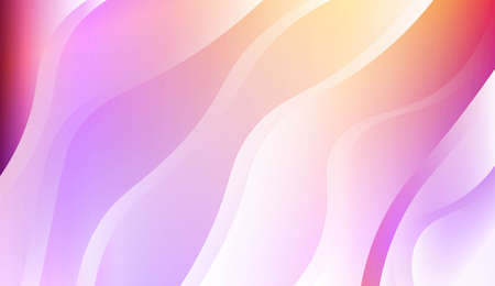 Blurred Decorative Design In Abstract Style With Wave, Curve Lines. For Elegant Pattern Cover Book. Vector Illustration with Color Gradient