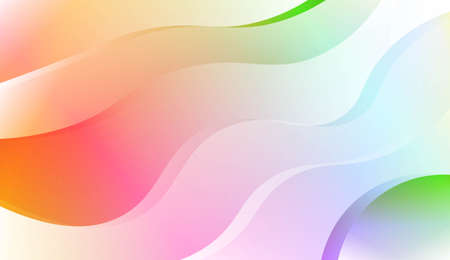 Wave Abstract Background. For Business Presentation Wallpaper, Flyer, Cover. Vector Illustration with Color Gradient 向量圖像