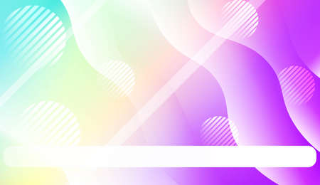 Fluid shapes composition with Abstract Wavy Background with Lines, Circle. For Business Presentation Wallpaper, Flyer, Cover, Landing Page. Vector Illustration with Color Gradient Çizim