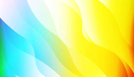 Modern Wavy Background. For Creative Templates, Cards, Color Covers Set. Vector Illustration with Color Gradient 矢量图像