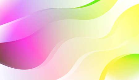 Design Décoratif Flou Dans Un Style Abstrait Avec Des Lignes De Vague, De Courbe. Pour la conception, la présentation, les affaires. Illustration vectorielle avec dégradé de couleurs Vecteurs