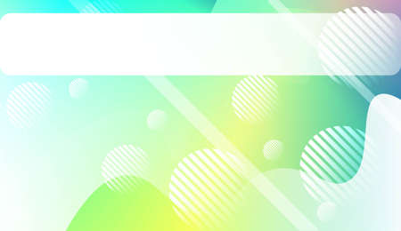 Wavy Background with Lines, Circle. For Cover Page, Landing Page, Banner. Vector Illustration.