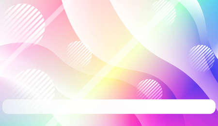 Geometric Pattern With Lines, Wave. For Your Design Ad, Banner, Cover Page. Vector Illustration with Color Gradient