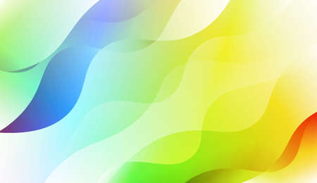 Modern Waves. Futuristic Technology Style Background. For Cover Page, Landing Page, Banner. Vector Illustration with Color Gradient