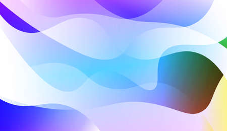 Abstract Waves. Futuristic Technology Style Background. For Creative Templates, Cards, Color Covers Set. Vector Illustration with Color Gradient