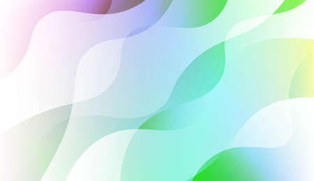 Template Abstract Background With Curves Lines. Design For Cover Page, Poster, Banner Of Websites. Vector Illustration with Color Gradient Illustration