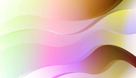 Wave Abstract Background. For Business Presentation Wallpaper, Flyer, Cover. Vector Illustration with Color Gradient Çizim