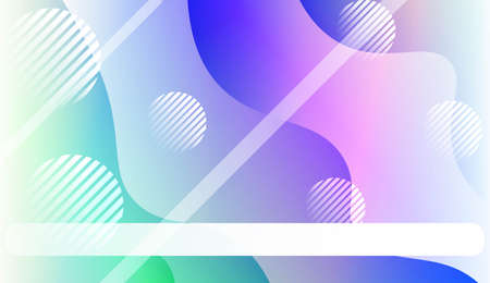 Dynamic shape background With Wave Gradient Shape, Line, Circle, Space for Text. For Futuristic Ad, Booklets. Vector Illustration. Çizim