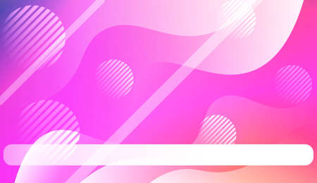 Blurred Decorative Design In Abstract Style With Wave, Curve Lines, Circle, Space for Text. Fluid shapes composition. For Design Flyer, Banner, Landing Page. Vector Illustration.