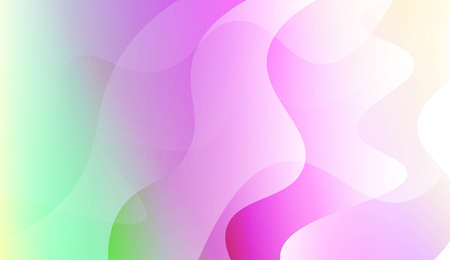 Abstract Wavy Background. For Business Presentation Wallpaper, Flyer, Cover. Vector Illustration with Color Gradient 矢量图像