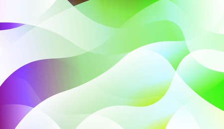 Template Abstract Background With Curves Lines. For Cover Page, Landing Page, Banner. Vector Illustration with Color Gradient