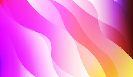 Template Modern Background With Curves Lines. For Elegant Pattern Cover Book. Vector Illustration with Color Gradient