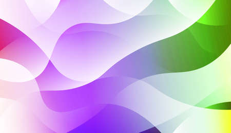Wavy Background. For Design Flyer, Banner, Landing Page. Vector Illustration with Color Gradient