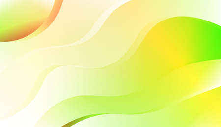 Wave Abstract Background. For Business Presentation Wallpaper, Flyer, Cover. Vector Illustration with Color Gradient 矢量图像