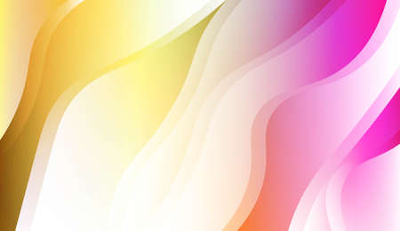 Abstract Shiny Waves. For Your Design Ad, Banner, Cover Page. Vector Illustration with Color Gradient