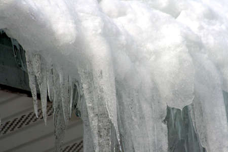 buildup: Snow and ice buildup on roof