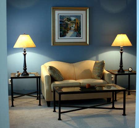 Contemporary living room interior