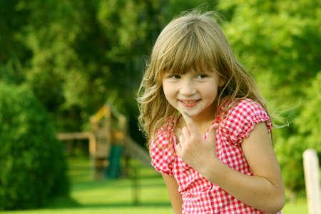 Mischievious Little Girl