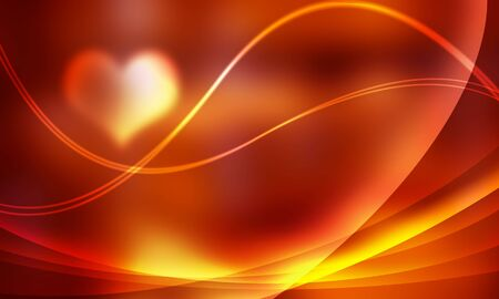 Light orange light and line heart  photo