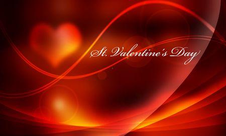 backlight: It is dark in light orange light and a line Valentine lettered backlight.