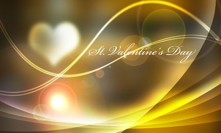 Light and line Valentine lettered backlight of light yellow system   photo
