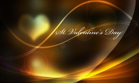 It is dark in light and a line Valentine lettered backlight of a light yellow system.   photo