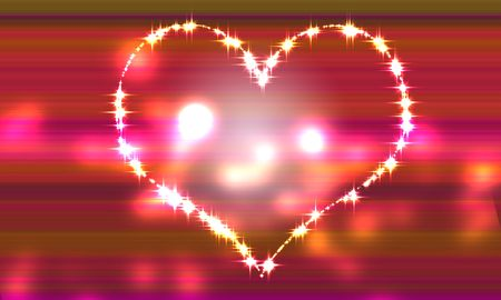 Heart pink gradation background of light that begins to overflow   photo