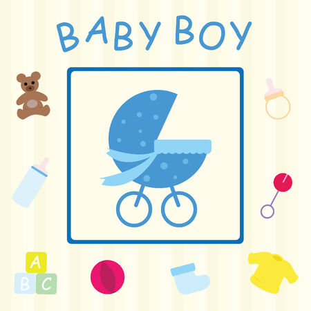 letter alphabet pictures: Baby Boy Card
