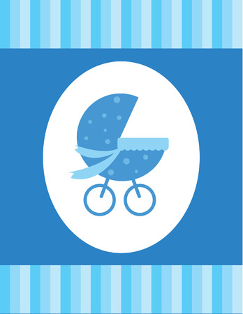 Blue Baby Card Stock Vector - 6847982