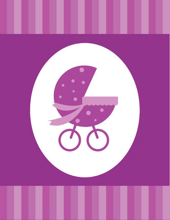 Pink Baby Card Stock Vector - 6847985
