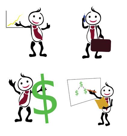 Businessman icons Illustration