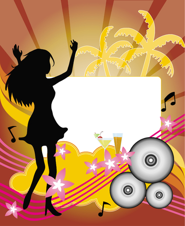champagne orange: summer party flyer