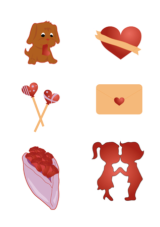 love icons Stock Vector - 6848733