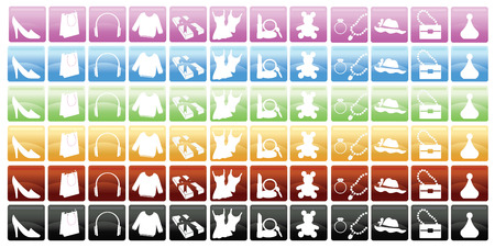 6 Set Of Shopping Icons Stock Vector - 6947264