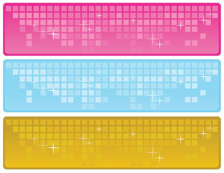 Glitter Web banners Vector