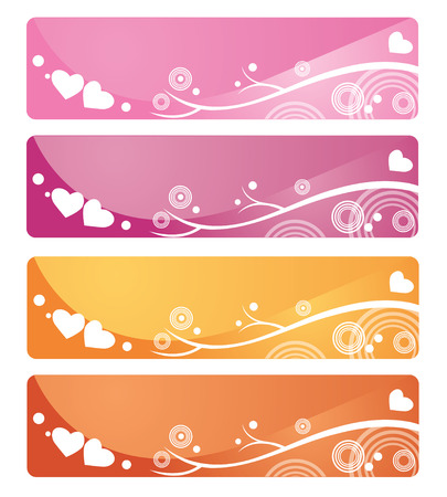 Romantic Web banners