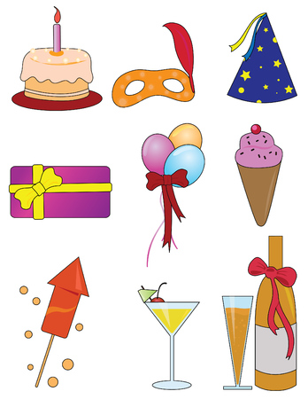 occasions: Party Items - Birthday, Celebration, Occasions  Illustration