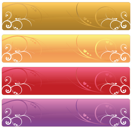 Floral Web banners  Vector