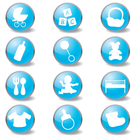 Baby Icons. Newborn and Toddler  Vector