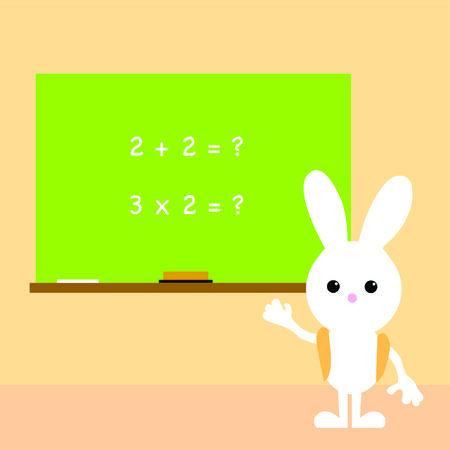 learning bunny  Vector