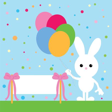 party bunny  Vector
