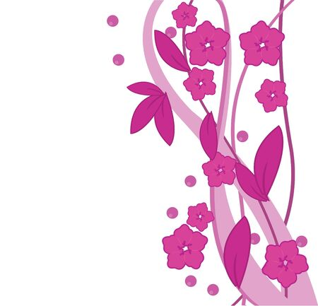 pink flowers and leaf designs for template, website and others photo