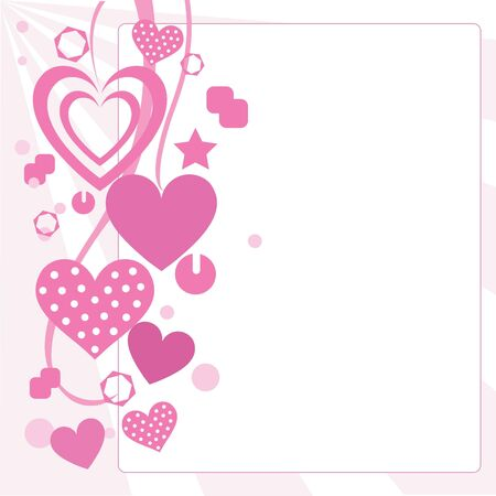 hearts and ribbons for website, greeting cards and valentine theme photo