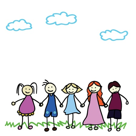 cartoon kids of boy and girls for children, fun, school and others Vector
