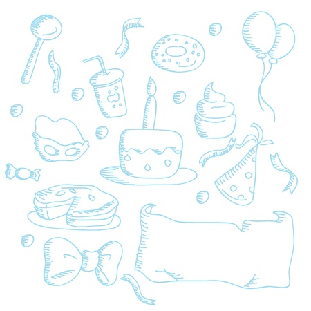 cartoon doodles icons for icons, buttons, kids and others Stock Vector - 12888401