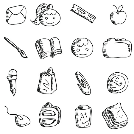 cartoon doodles icons for icons, buttons, kids and others Vector