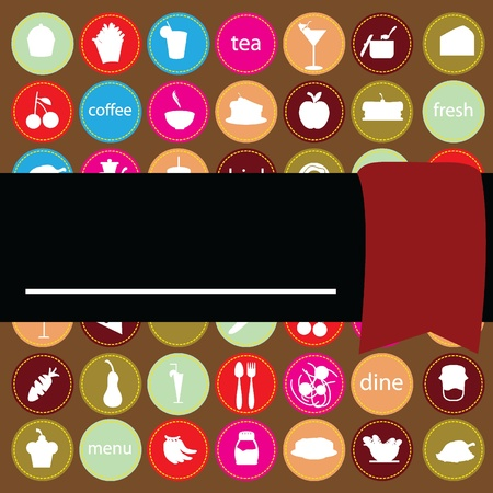 foods items background for menu, invitation and others Vector